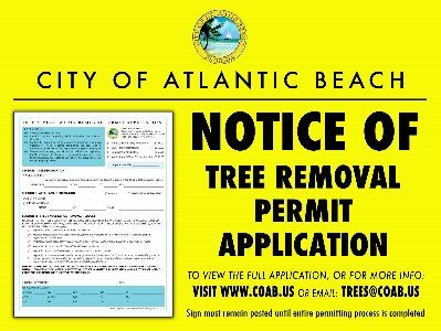 Tree Permit Sign