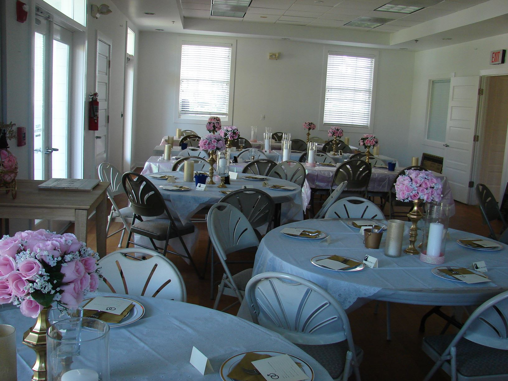 Adele Grage Rental space decorated for baby shower.