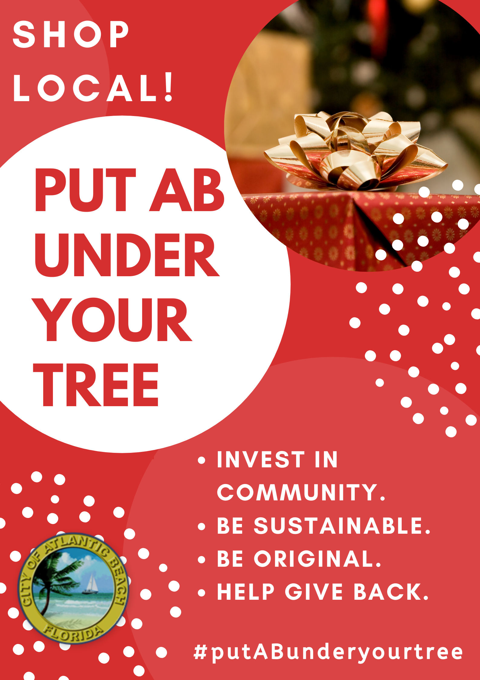Put AB Under Your Tree November 2019 White Hashtag