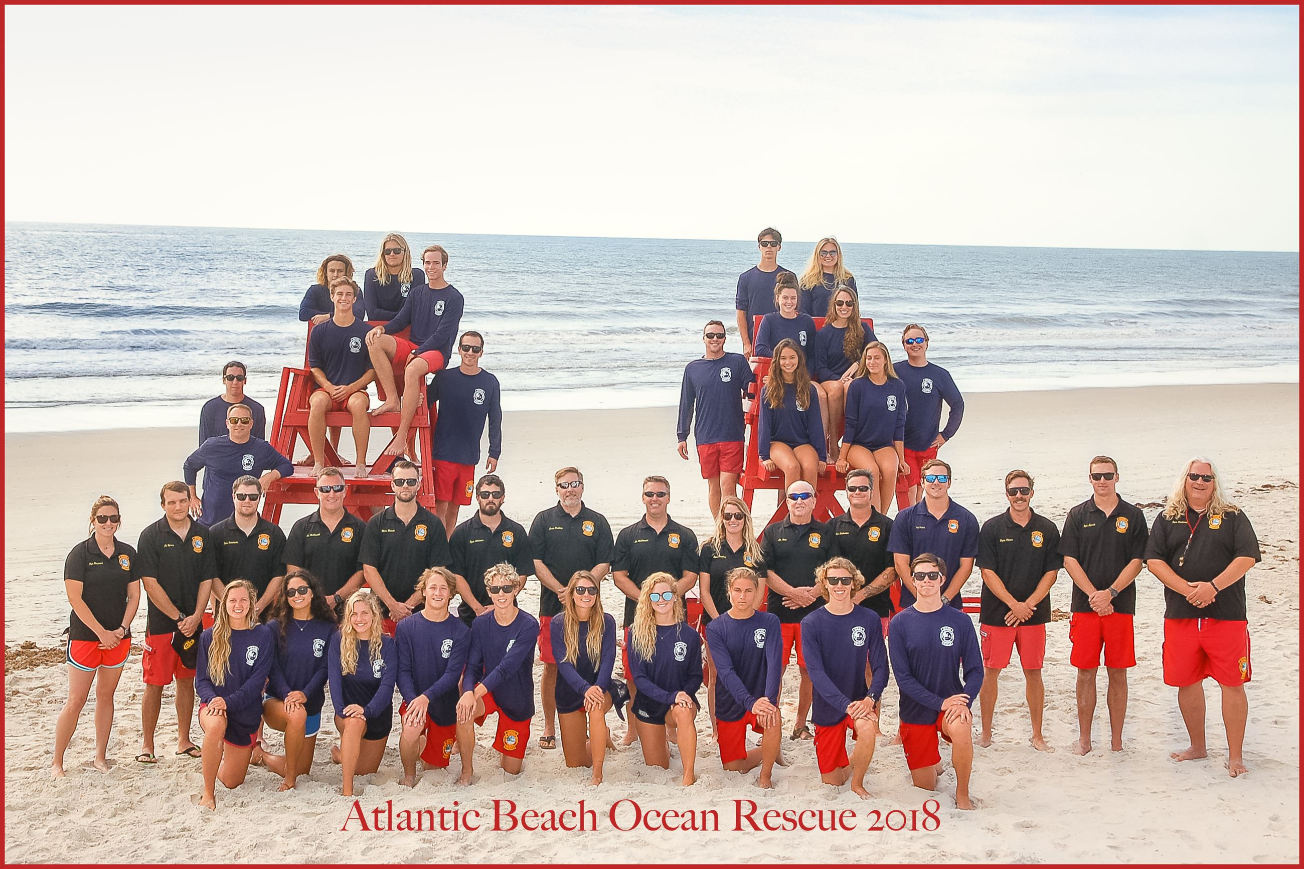 2018 Atlantic Beach Lifeguard Group photo