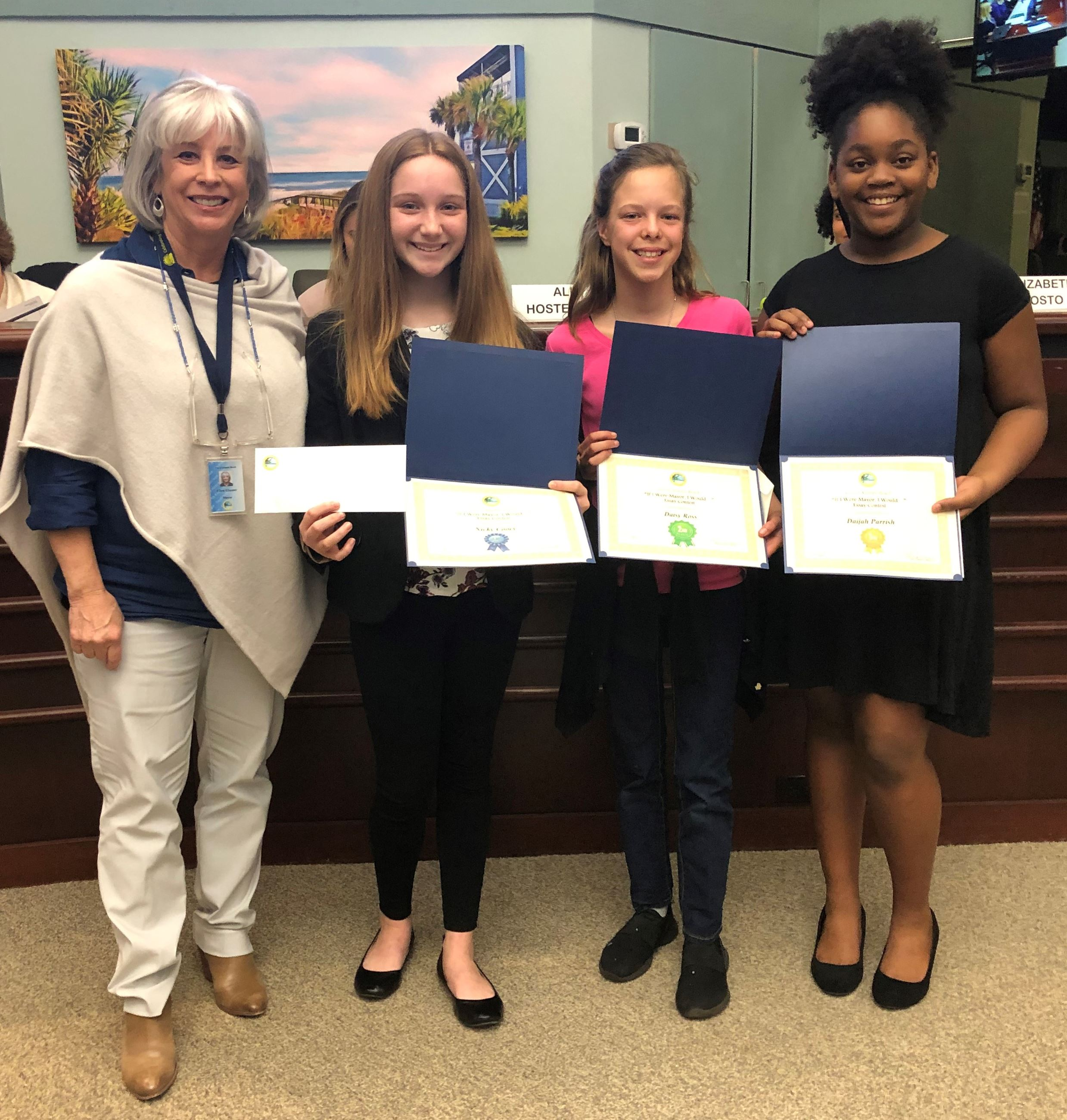 "Photo of 2019 Atlantic Beach ""If I Were Mayor, I Would ..."" essay contest winners"
