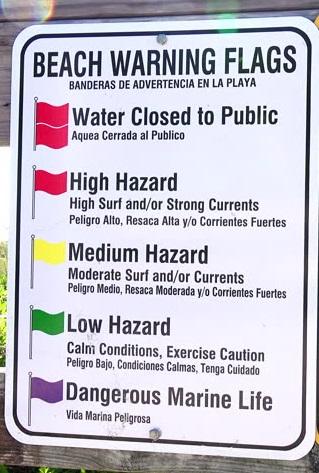 1 Jpg Beach Safety Tips Warning Flag System