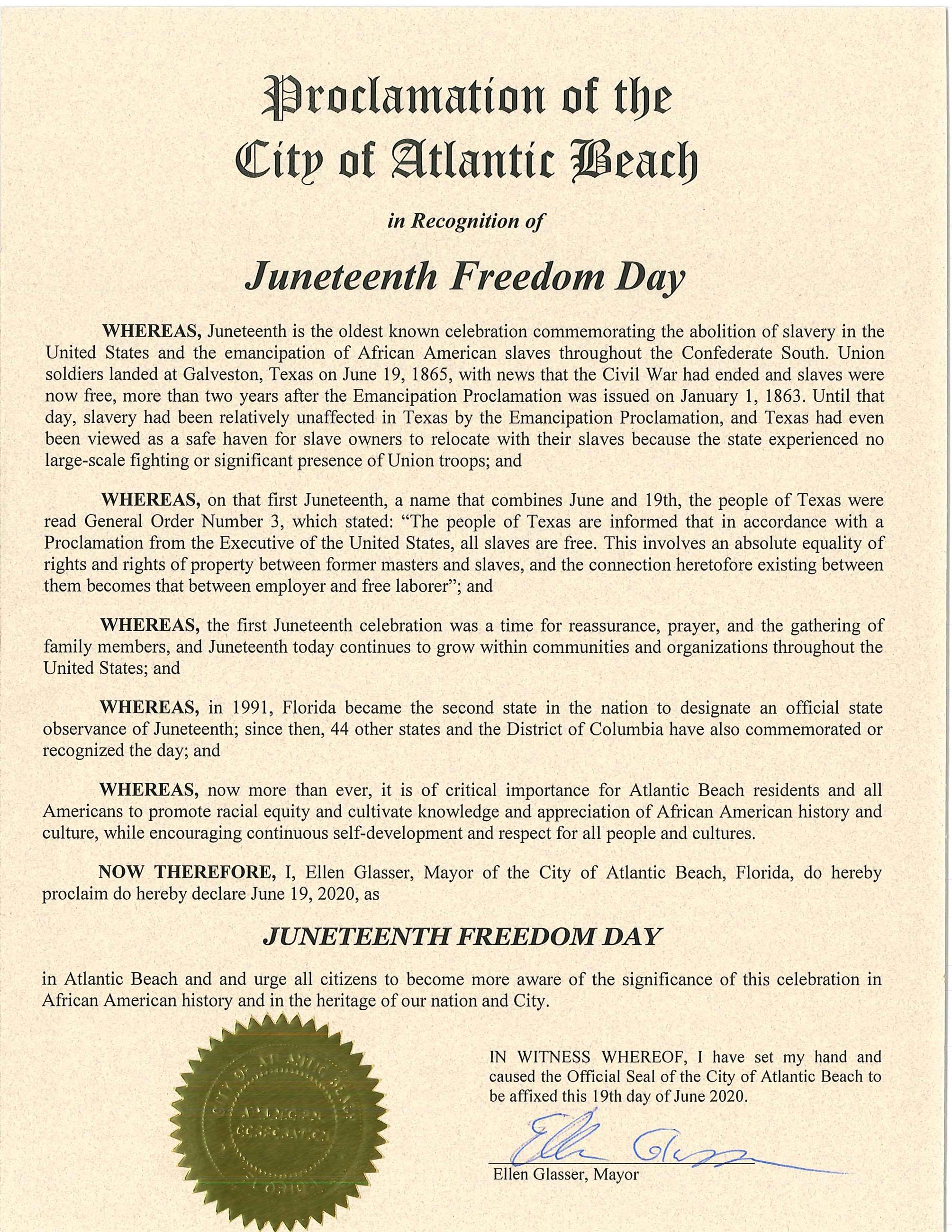 Juneteenth Freedom Day Proclomation 2020-page-001